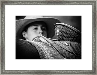 Framed Print featuring the photograph Annie's Saddle by Steven Bateson