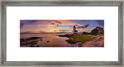 Annisquam Harbor Lighthouse After Sunset Framed Print