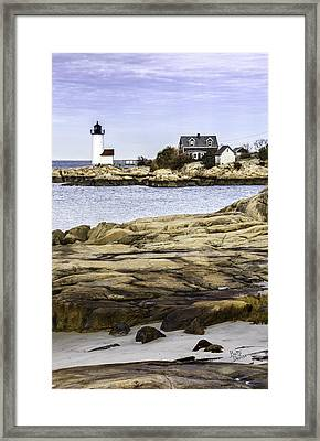 Framed Print featuring the photograph Annisquam Light by Betty Denise