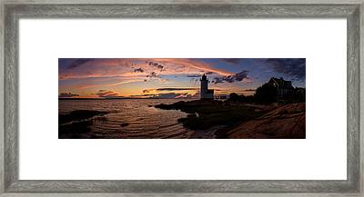 Annisquam Light Sunset Silhouette Framed Print by Scott Lynde