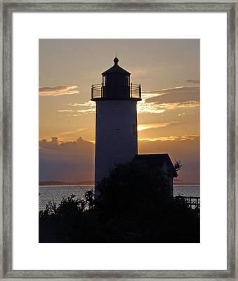 Annisquam Lighthouse Sunset Framed Print