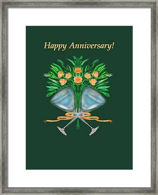 Framed Print featuring the digital art Anniversary Bouquet by Christine Fournier