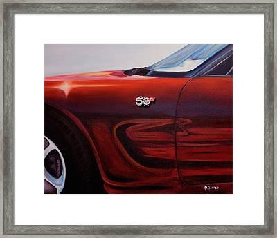 Anniversary Edition Corvette Framed Print
