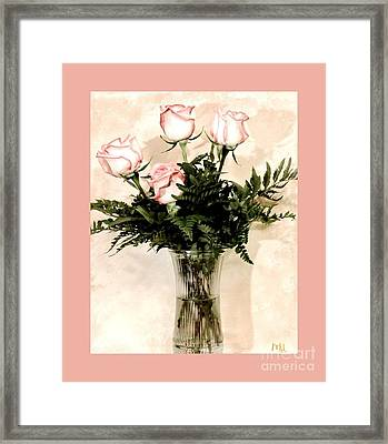Anniversary Love Bouquet Framed Print