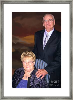 Framed Print featuring the painting Anniversary Portrait by Tim Gilliland