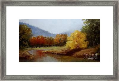 Anns Creek Bed Framed Print