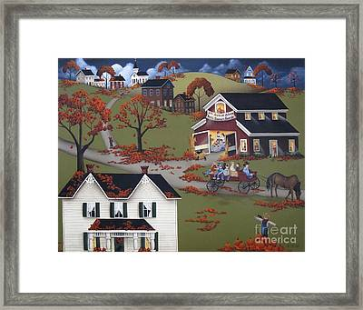 Annual Barn Dance And Hayride Framed Print