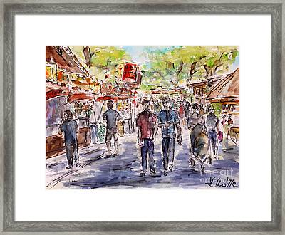 Framed Print featuring the painting annual fair II by Alfred Motzer