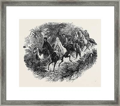 Annual Migration Of A Tartar Family Framed Print by English School
