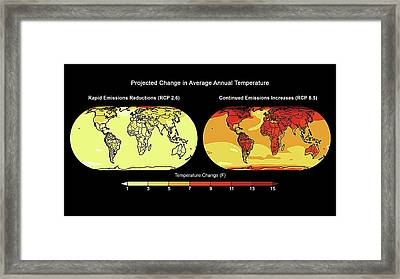 Annual Temperature Change Framed Print