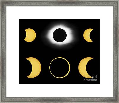 Annular And Total Solar Eclipses Framed Print by John Chumack