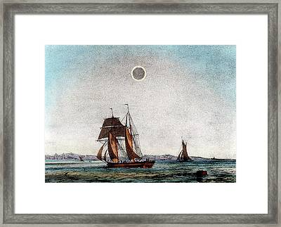 Annular Eclipse Of The Sun Framed Print by Universal History Archive/uig