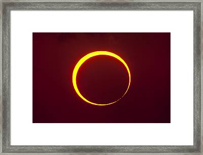 Annular Solar Eclipse Framed Print by Science Photo Library