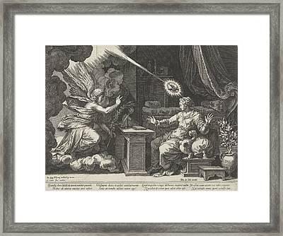 Annunciation, Cornelis Cort, Unknown, Pieter De Jode Framed Print