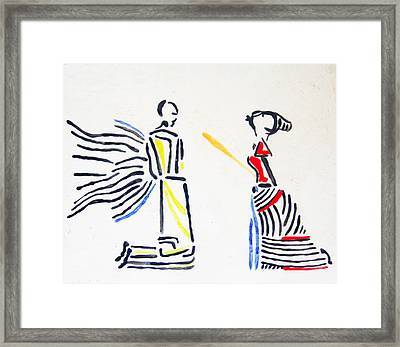 Annunciation Framed Print by Gloria Ssali