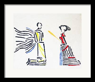 Uganda Contemporary Ceramics Framed Prints