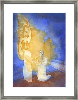 Annunciation Framed Print by John Meng-Frecker