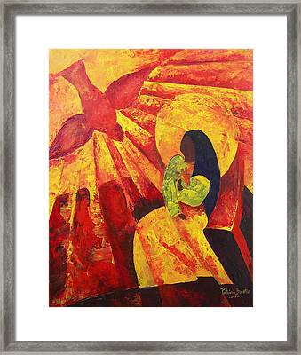 Annunciation Framed Print by Patricia Brintle