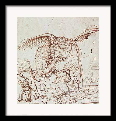Annunciation Drawings Framed Prints