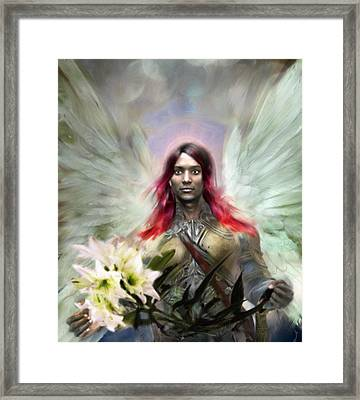 Annunciation Framed Print by Suzanne Silvir
