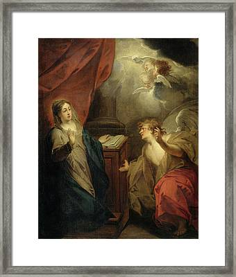 Annunciation To The Virgin, Jacob De Wit Framed Print by Litz Collection