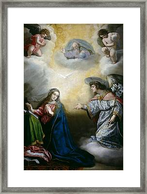 Annunciation Framed Print by Vincenzo Carducci