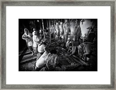 Anointing - Church Of The Holy Sepulchre Framed Print by Stephen Stookey