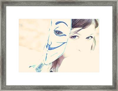 Anonymous Against Acta Framed Print by Beatrice Murch