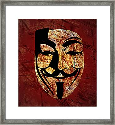 Anonymous Framed Print by Ally  White