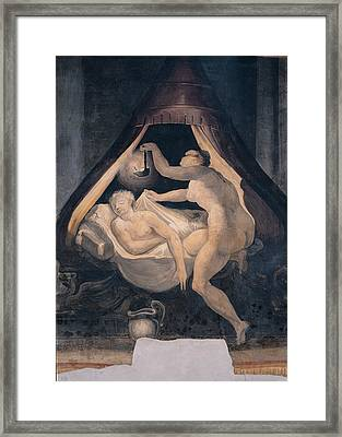 Anonymous Artist, Psyche Holding Framed Print