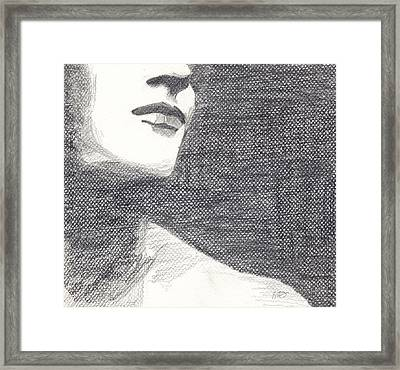 Anonymous Crop Framed Print