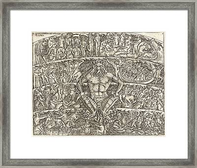 Anonymous Italian. The Inferno According To Dante Framed Print by Litz Collection