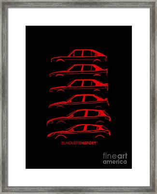 Lombard Compact Silhouettehistory Framed Print by Gabor Vida