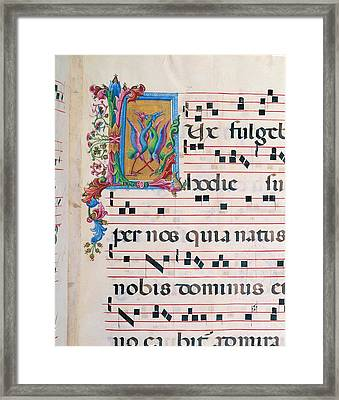 Anonymous Sienese Painter , Benvenuto Framed Print by Everett