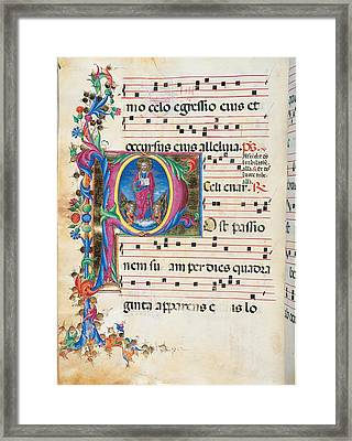 Anonymous Sienese Painter, Day Framed Print
