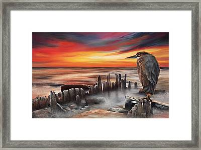 Another Bloody Sunset Framed Print
