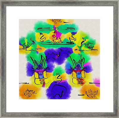 Another Blueprint In Abstract Framed Print by Pepita Selles