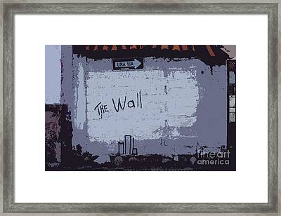 Another Brick In ..... Framed Print by Al Bourassa