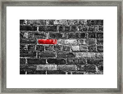Another Brick In The Wall Framed Print by Delphimages Photo Creations