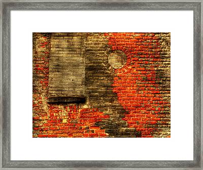 Another Brick In The Wall Framed Print by Thomas Young