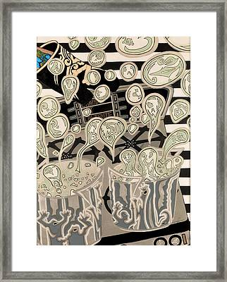 Another Bubble In A Boiling Potlucky You Had Your Oven Mitt On Framed Print by Angelo Sena