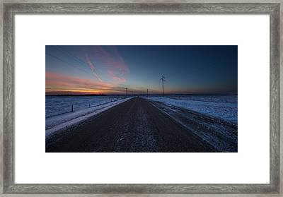 another Cold Road to Nowhere Framed Print by Aaron J Groen