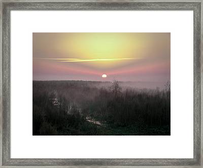 Another Dawn Over The Prairie Framed Print