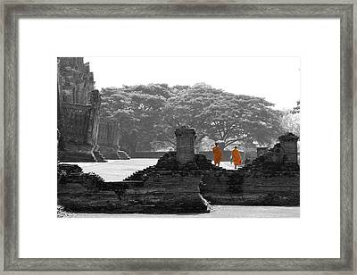 Another Day At The Office Framed Print by Alexey Stiop