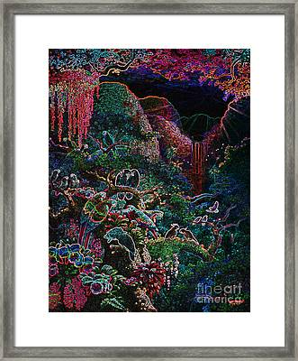Another Day In Paradise - Digital 1 Framed Print