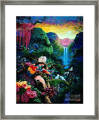 Another Day In Paradise - Digital 2 Framed Print