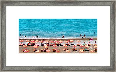 Another Day In Paradise-positano-digitized Framed Print
