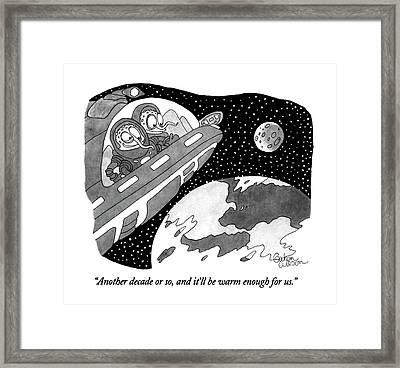 Another Decade Or Framed Print by Gahan Wilson