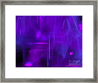Framed Print featuring the digital art Another Dimension by Victoria Harrington