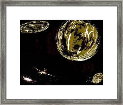 Another Earth - Abstract - Ile De La Reunion - Reunion Island - Indian Ocean Framed Print by Francoise Leandre